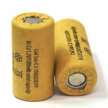 Акумулаторна батерия Energy Technology SC1500HP D, SC, 1.2V, 1500mAh, Ni-Cd, 1 брой image