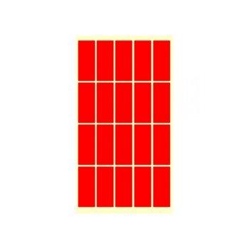 Етикети за цени Fleks-Ko, размер 51x21mm, 200бр, червени image