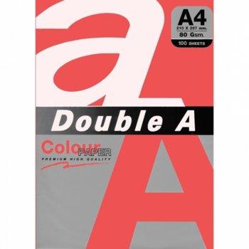 Хартия Double A 15506, A4, 80 g/m2, 100 листа, червен image