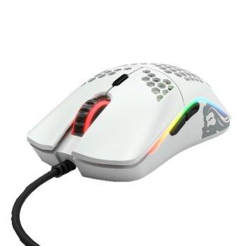 Мишка Glorious Odin O-, оптична (12 000dpi), USB, матирано бяла, геймърска, подсветка image