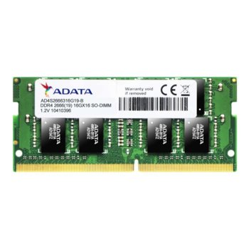 Памет 4GB DDR4 2666MHz, SO-DIMM, A-Data AD4S2666J4G19-B, 1.2V image