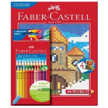 Faber-Castell Grip 24 цвята книжка оцветяване Pixe product