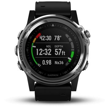 Смарт часовник Garmin Descent Mk2, 280 x 280 пиксела, 100 bar, разнообразни спортни функций, Bluetooth, Smart, ANT+, Wi-Fi, черен image