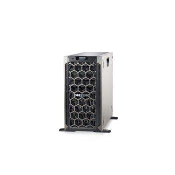 Сървър Dell PowerEdge T340 (PET340CEE03_1), четириядрен Coffee Lake Intel Xeon E-2134 3.5/4.5 GHz, 32GB DDR4 ECC UDIMM, без твърд диск, 2x GbE LOM, 3x USB 3.0, без OS, 495W image