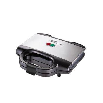 Сандвич скара Tefal SM155233, Ultra Compact Inox, подвижни плочки, 700 W image