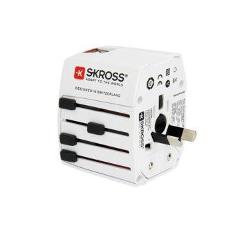 Адаптер Skross MUV USB, 2х USB, този адаптер ви дава възможност да свържете 2-полюсни устройства от над 220 страни по целия свят image