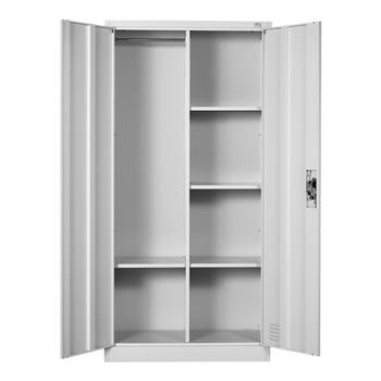 Метален гардероб RFG DZX-017/RAL7035, 4x рафтове, прахово боядисан, метален, заключване, регулируема височина на рафтовете, сив image