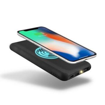 Външна батерия /power bank/ TnB Wireless, 10 000 mAh, черна, безжична, 1x microUSB Type B, 1x USB Type A, 1x USB Type C image