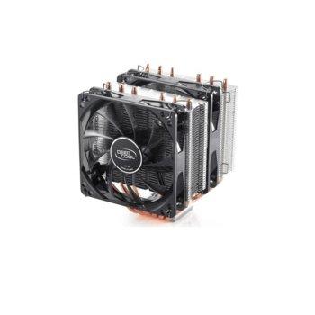 Охлаждане за процесор DeepCool NEPTWIN V2 (DP-MCH6-NT), съвместимост със сокети Intel LGA20XX/1366/115X/775 & AMD AM4/AM3+/AM3/AM2+/AM2/FM2+/FM2/FM1 image