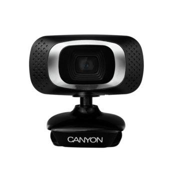 Уеб камера Canyon CNE-CWC3N, микрофон, 1.0 MP (1280x720/30 Fps), USB, черна image