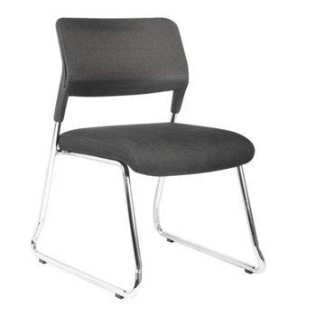 Посетителски стол RFG Evo 4S M (ON4010100285), дамаска, 120 кг. максимално натоварване, черен image