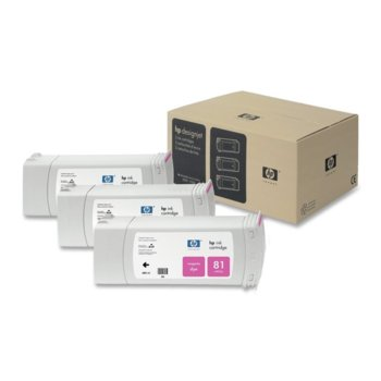 Мастило за HP 83 3 - C5069A - Magenta - 3x 680ml/ 1 000к image
