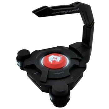Бънджи за мишка Dragon War GHW-001, USB Хъб, Черен image