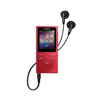 MP4 плейър Sony NW-E394, 8GB, USB, червен image