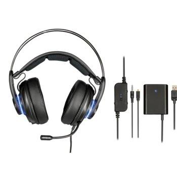 Слушалки Trust GXT 383 Dion 7.1, геймърски, USB, черни image