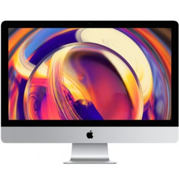 "All in One компютър Apple iMac (MRR02ZE/A_Z0VR00066/BG), 27"" (68.58 cm) 5K Retina дисплей, шестядрен Coffee Lake Intel Core i5-8600 3.10/4.30 GHz, AMD Radeon Pro 575X 4GB, 8GB DDR4, 1TB SSHD, 2x Thunderbolt 3, клавиатура и мишка, macOS Mojave image"
