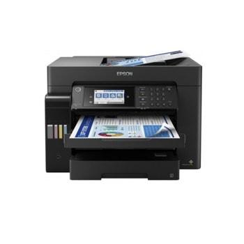 Мултифункционално мастиленоструйно устройство Epson EcoTank L15160 A3+ MFP, цветен принтер/копир/скенер/факс, 4800 x 1200 dpi, 25 стр./мин, USB, LAN, Wi-Fi, A3+ image