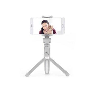 Селфистик Xiaomi Mi Selfie Stick Tripod, трипод, Bluetooth, Micro USB, сив image
