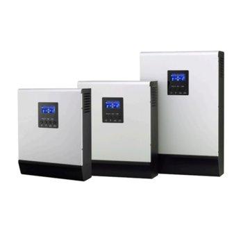 Инвертор MPS-V 5K, хибриден синусоиден, 5000VA/5000W, от 90–280 Vac към 230 Vac, LCD дисплей image