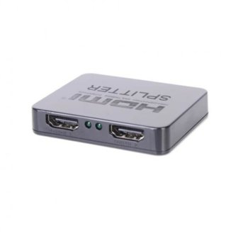 Сплитер HDMI Splitter, от 1x HDMI(ж) към 2x HDMI(v), microUSB TypeB захранване, до 15м, до 4K резолюция, черен image