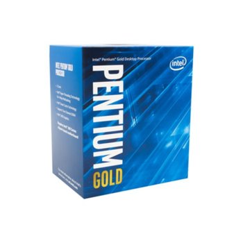 Процесор Intel Pentium Gold G5600, двуядрен (3.9GHz, 4MB Cache, 350MHz-1.10GHz GPU, LGA1151) BOX, без охлаждане image