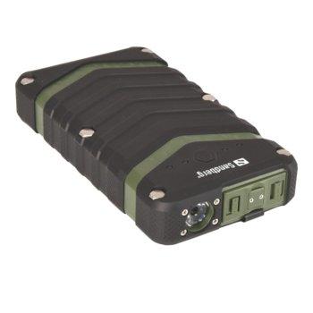 Външна батерия /power bank/ Sandberg, 20100mAh, Micro USB(ж)/USB A(ж), водоустойчива (IP67), черна image