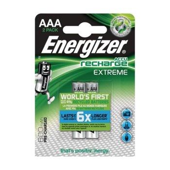 Акумулаторна батерия Energizer Extreme, AAA, 1.5V, 800 mAh, NiMH, 2 броя image