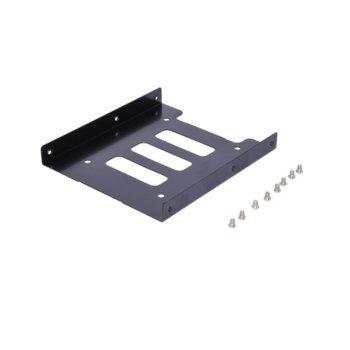"""Преходник (mounting bracket) Makki MAKKI-HDB-250, от 2.5"""" HDD/SSD към 3.5"""" HDD/SSD, черен image"""