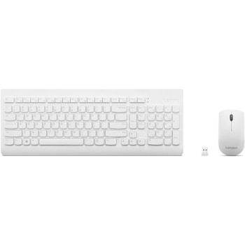 Комплект клавиатура и мишка Lenovo 510 Wireless Combo Keyboard & Mouse, безжични, оптична мишка (1200 dpi), Bluetooth, бели image