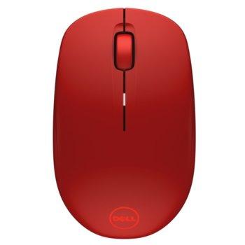 Мишка Dell WM126, безжична, оптична (1000 dpi), червена, USB image