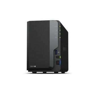 """Мрежови диск (NAS) Synology DiskStation DS218+, двуядрен Intel Celeron J3355 2.0/2.5GHz, без твърд диск(2x 2.5/3.5"""" HDD/SSD), 2GB DDR3L, 1x LAN10/100/1000, 3x USB 3.0, 1x eSATA image"""