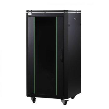 Комуникационен шкаф Mirsan MR.GTAP22U61.01, 22U, 600 x 1000 x 1164 mm, черен image