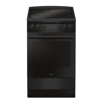 Готварска печка Amica 507CE2.30EHDSM, 62 л. обем, 4 котлона, енергиен клас A, черна image