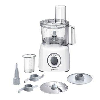 Кухненски робот Bosch MCM3100W, 20 функции, двустранен диск, заключване на капака и купата, SmartStorage, 800W, бял image