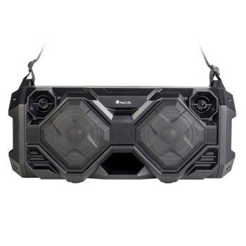 Тонколона NGS Street Fusion, 2.0, 100W, Bluetooth, FM, 3.5mm жак, USB, черна, LED дисплей, функция за запис, контрол на звука, microSD слот, 2000mAh батерия image
