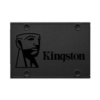 "Памет SSD 480GB Kingston A400 Series SA400S37/480G, SATA 6Gb/s, 2.5""(6.35 cm), скорост на четене 500 MB/s, скорост на запис 450MB/s image"