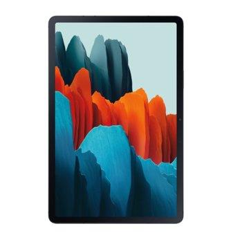 "Таблет Samsung SM-T976 TAB S7+ (SM-T976BZKAEUE)(черен), 12.4"" (31.50 cm) WQXGA+ Super AMOLED 120Hz, HDR10+ дисплей, осемядрен Snapdragon 865+ 2.42 GHz, 6GB RAM, 128GB Flash памет (+ microSD слот), 13.0 MP + 5.0 MP & 8.0 MP камера, Android 10 image"