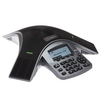 Конферентна станция Polycom SoundStation IP 5000, PoE, LCD дисплей, SIP, 2 метра обхват, до 6 участника в конференцията, черен image
