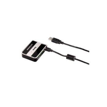 Четец за карти HAMA 49016, USB 2.0, SD, SDHC, microSD/SDHC, MMC/Plus, MS/PRO/select/Micro, черен image