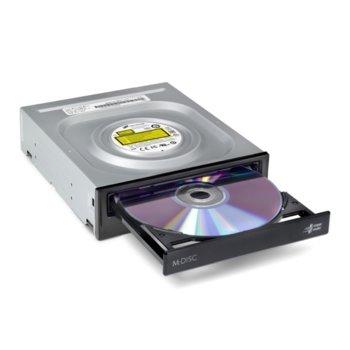 Оптично устройство LG GH24NSD5.ARAA10B, вътрешно, SATA, четене/записване, черно image