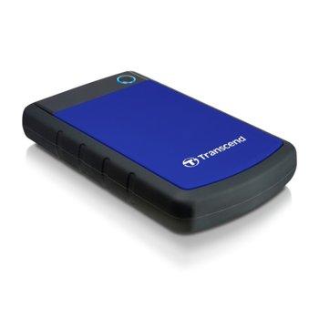 """Твърд диск 4TB Transcend StoreJet H3B (син), външен, 2.5"""" (6.35 см), USB 3.1 image"""
