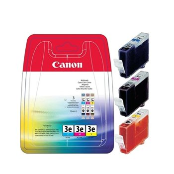 Мастило за Canon Pi550; MultiPASS F30/F50/F60/F80/MP700/MP730; S500/S520/S530D/S630/S750 - C/M/Y - 4480A265 - BCI-3e - Заб.: 3x 13ml image