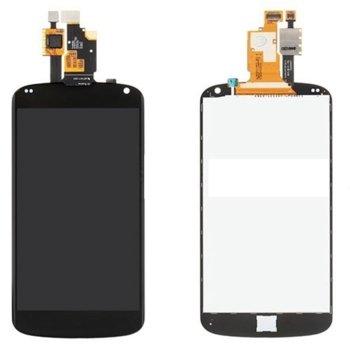 Дисплей за LG E960 Nexus 4, LCD, с тъч, черен image