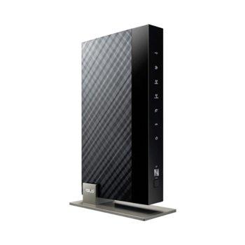 Рутер Asus DSL-N66U, 900 Mbps, 2.4GHz(450Mbps)/ 5GHz(450Mbps), Wireless N, ADSL, 1x WAN 1000, 1x RJ11, 4x Port 1000Mbps, 2х USB 2.0, 3x 5dBi вътрешни антени image