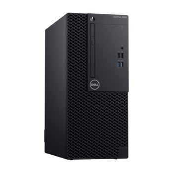 Настолен компютър Dell Optiplex 3070 MT (#DELL02719), шестядрен Coffee Lake Intel Core i5-9500 3.0/4.4 GHz, 8GB DDR4, 1TB HDD, 1x USB 3.1 Type C, клавиатура и мишка, Linux image