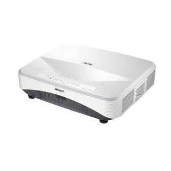 Проектор Vivitek DH768Z-UST, DLP, 3D Ready, Full HD (1920x1080), 12000:1, 3100 lm, 2x HDMI, VGA, 2x RJ-45, USB, бял image