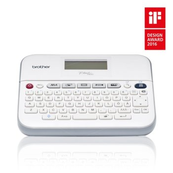 Етикетен принтер Brother PТ-D400, настолен, термотрансферен печат, широка QWERTY клавиатура, 14 шрифта, ширина на печат до 18mm image