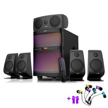 Тонколона Fenda F5060X, 5.1, 135W(5x15+ 60W)RMS, Bluetooth 4.2, USB, черна, Led, SD слот image