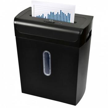 Шредер Monolith LUS-14 CROSS, до 10 листа А4, раздробява карти/хартия/CD / DVD дискове/, реверс система, автоматичен старт/стоп, кошче за отпадъци с обем 20 литра image
