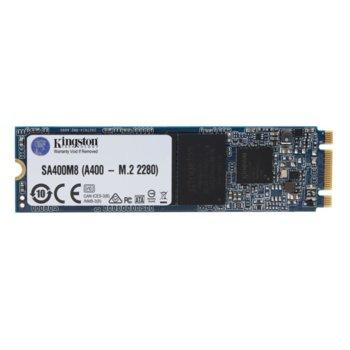 Памет SSD 120GB Kingston A400, SATA 6Gb/s, M.2 (2280), скорост на четене 500MB/s, скорост на запис 320MB/s image